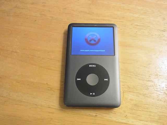 本川越のお客様 iPod classic160GB→256GB 大容量化受付